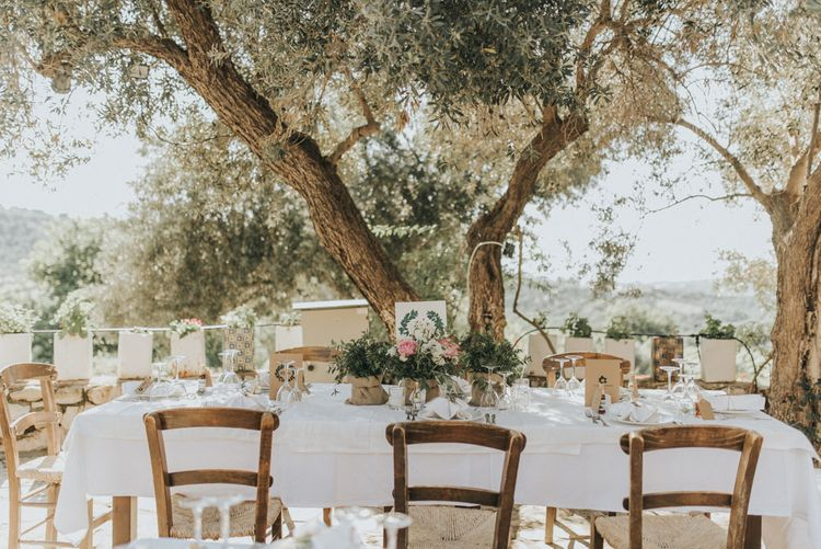 Outdoor Pastel Destination Wedding at Agreco in Greece | Best Moments Wedding Planner | Paulina Weddings Photography