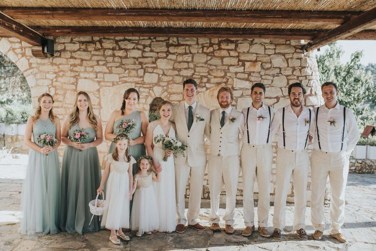 Wedding Party | Outdoor Pastel Destination Wedding at Agreco in Greece | Best Moments Wedding Planner | Paulina Weddings Photography