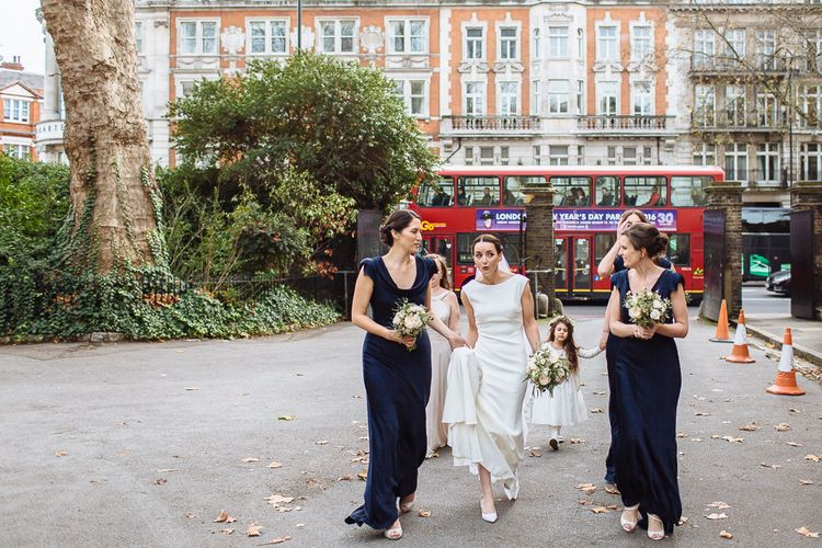 Bride In Pronovias And Bridesmaids In Ghost