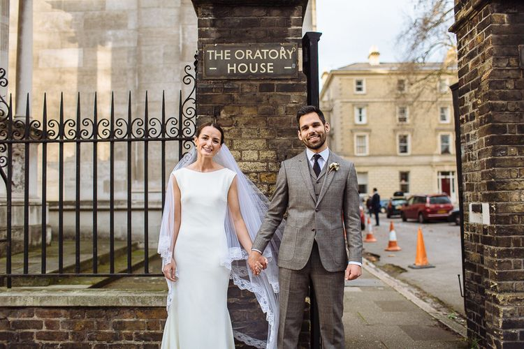 Stylish & Intimate London Wedding At The Fox & Grapes With Bride In Pronovias