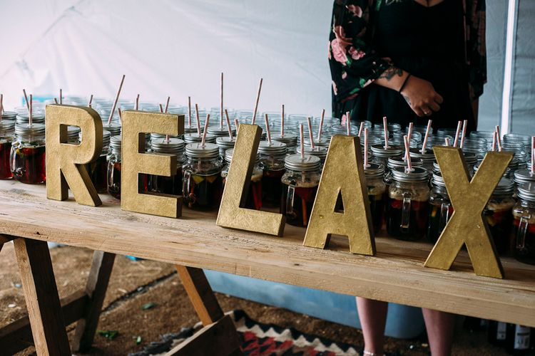 Pimms Drinks Reception | Rustic Wedding at Yoghurt Rooms in Sussex | Louise Griffin Photography