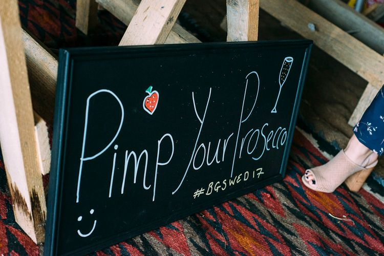 Pimp Your Prosecco Bar | Rustic Wedding at Yoghurt Rooms in Sussex | Louise Griffin Photography