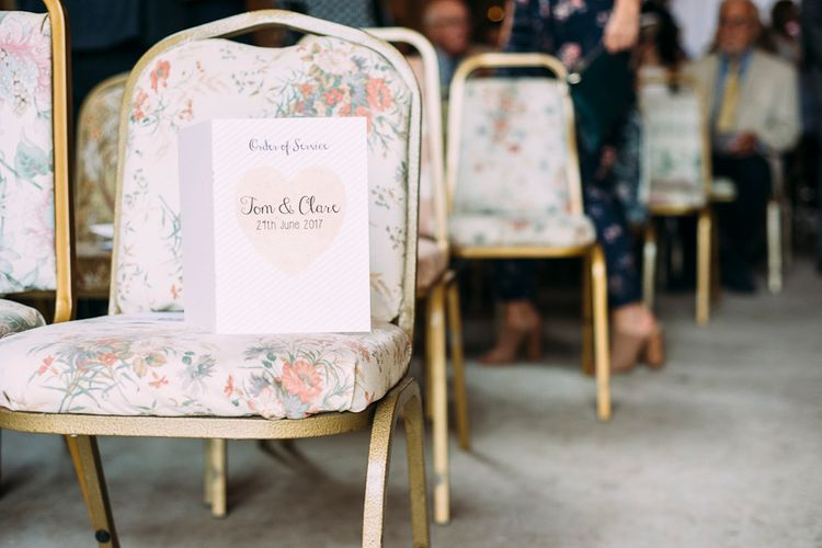 Order Service Wedding Stationery | Rustic Wedding at Yoghurt Rooms in Sussex | Louise Griffin Photography