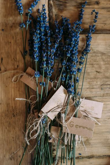 Dried Lavender | Rustic Wedding at Yoghurt Rooms in Sussex | Louise Griffin Photography