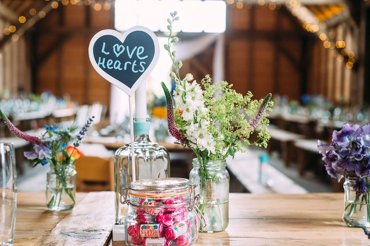 Sweet Table Names | Rustic Wedding at Yoghurt Rooms in Sussex | Louise Griffin Photography