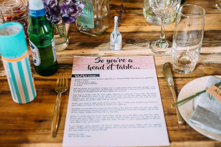 Chevron Wedding Stationery | Rustic Wedding at Yoghurt Rooms in Sussex | Louise Griffin Photography
