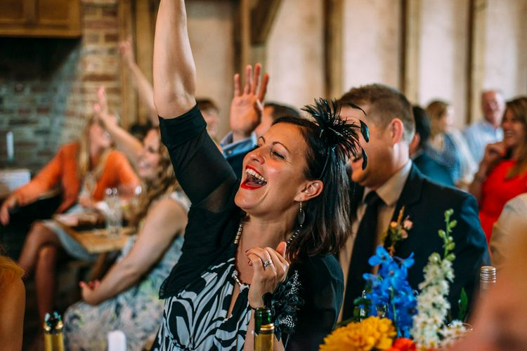 Wedding Guests | Rustic Wedding at Yoghurt Rooms in Sussex | Louise Griffin Photography
