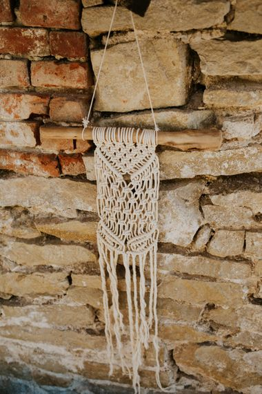 Macrame Wedding Decor | Chic Rustic French Wedding at Le Morimont Styled by Féelicité | Photography by Chloe