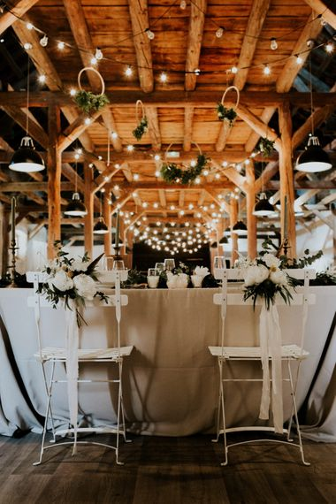 Chair Back Decor | Chic Rustic French Wedding at Le Morimont Styled by Féelicité | Photography by Chloe