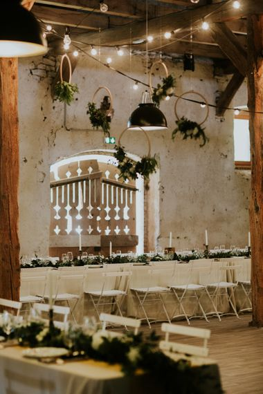 Rustic Wedding Reception Decor | Chic Rustic French Wedding at Le Morimont Styled by Féelicité | Photography by Chloe