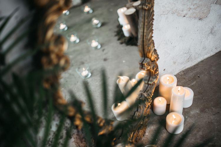 Gold Mirror Wedding Decor
