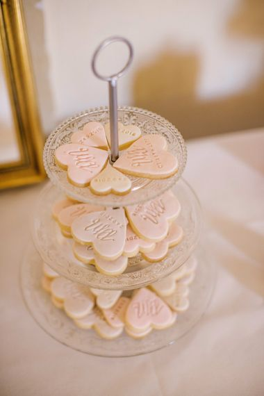 Heart Shape Wedding Biscuit Favours