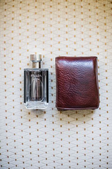 Lather Wallet & Prada Aftershave Grooms Accessories