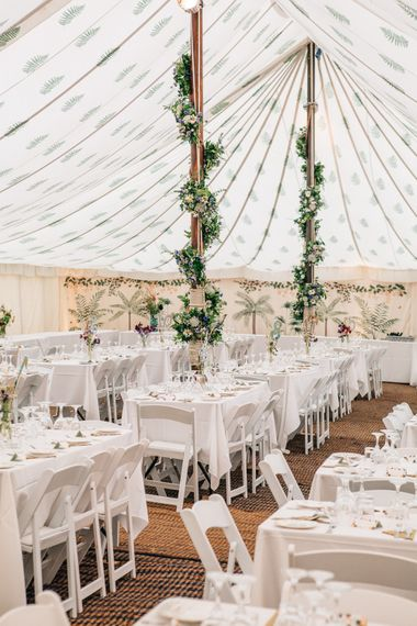 Wild Flower Filled Marquee by LPM Bohemia