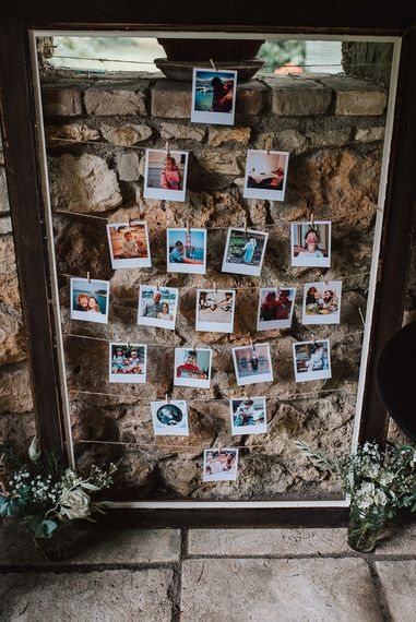 Polaroid Picture Wedding Decor