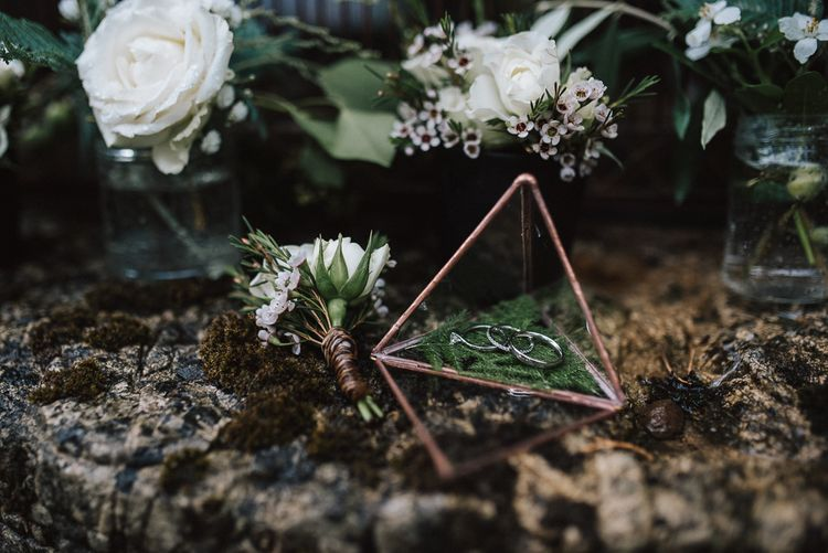 Terrarium with Wedding Bands