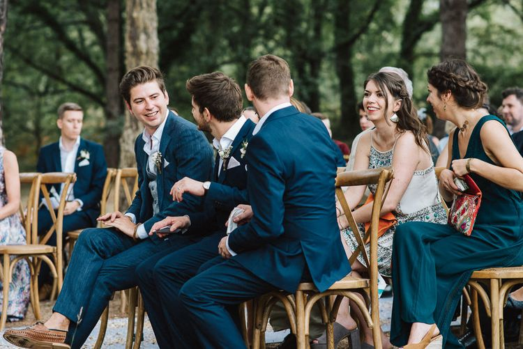 Groomsmen at the Outdoor Wedding Ceremony