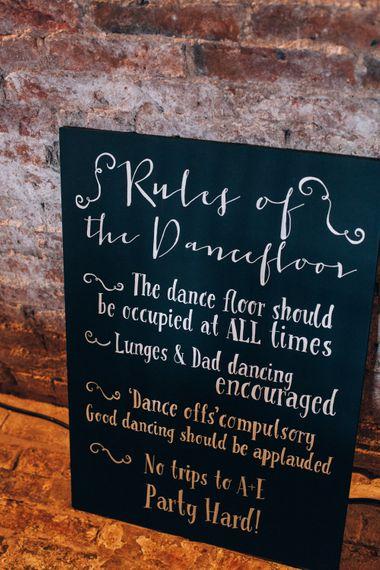 Blackboard Dance Floor Rules