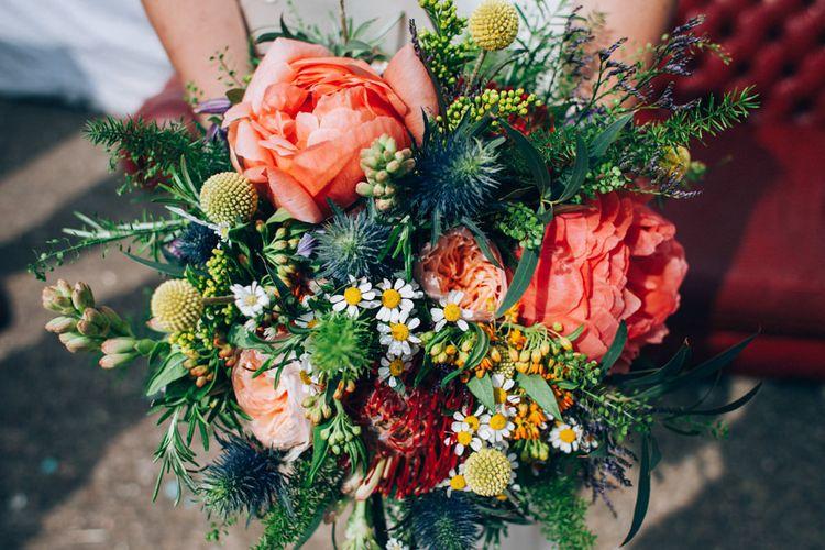 Wild Bright Peony Bouquet