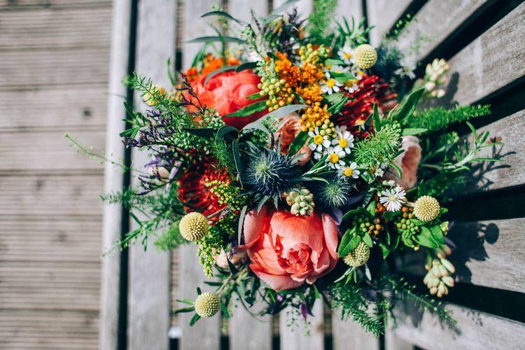 Wild Peony Bridal Bouquet