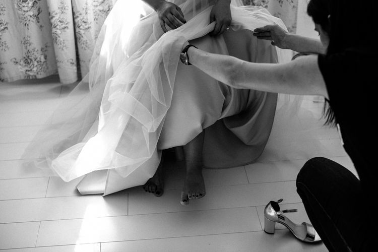 Wedding Preparations with Creative Handmade Shoes