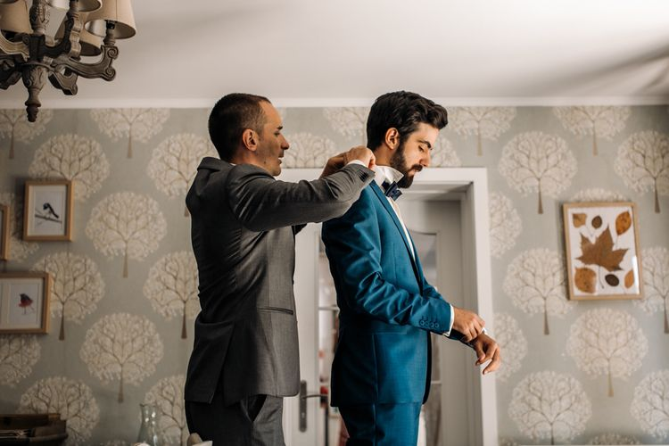 Wedding Preparations with Groom in Vitale Barberis Canonico Suit
