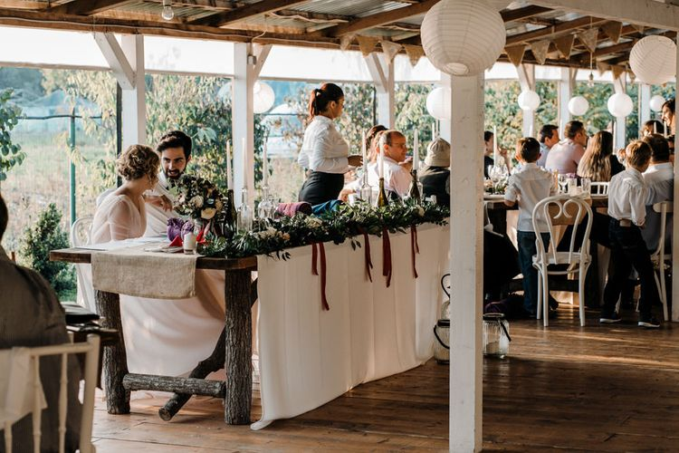 Top Table Rustic Wedding Reception
