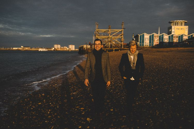 Mr & Mr Southsea Coastal Pre Wedding Engagement Shoot by Carrie Lavers Photography
