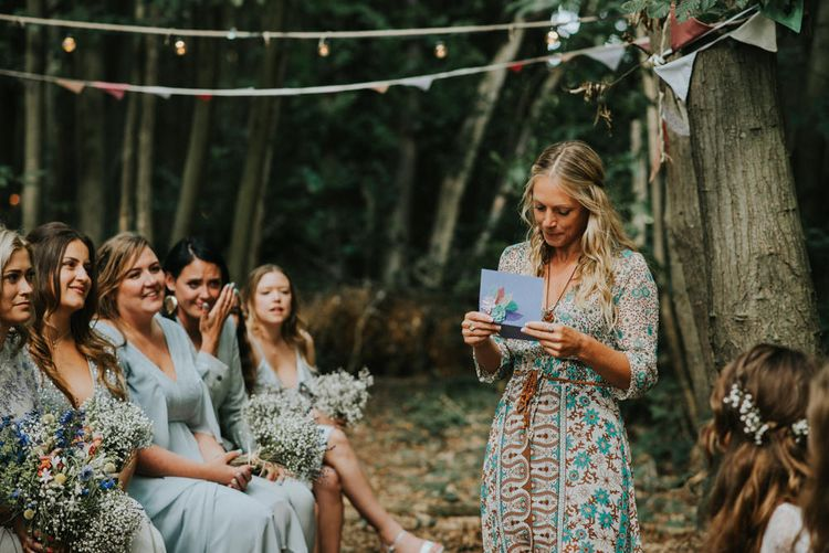 Wedding Ceremony   Readings   Outdoor Woodland Wedding at The Dreys in Kent   Fern Edwards Photography