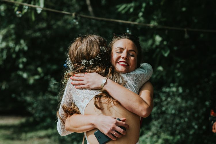 Bride in Grace Loves Lace   Outdoor Woodland Wedding at The Dreys in Kent   Fern Edwards Photography
