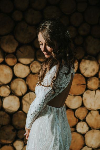 Bride in Grace Loves Lace | Outdoor Woodland Wedding at The Dreys in Kent | Fern Edwards Photography