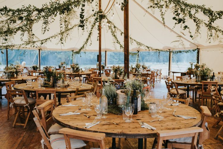 Greenery Marquee Reception | Outdoor Woodland Wedding at The Dreys in Kent | Fern Edwards Photography