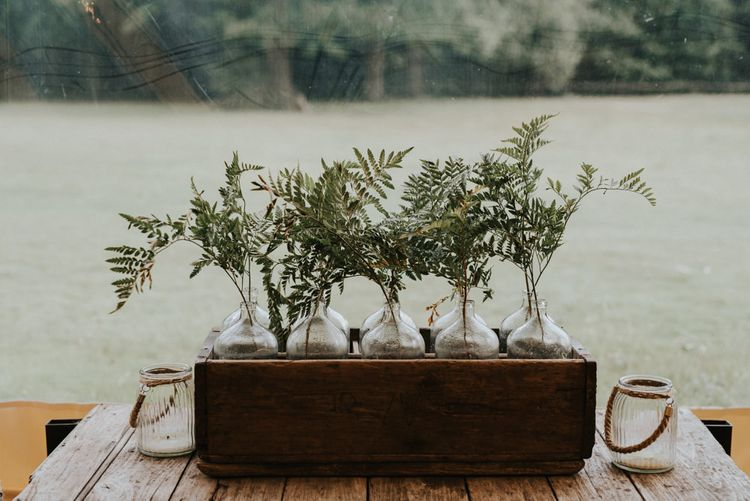 Greenery Plants Wedding Decor | Outdoor Woodland Wedding at The Dreys in Kent | Fern Edwards Photography