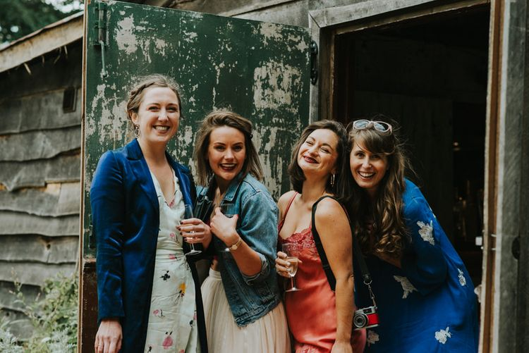Wedding Guests   Outdoor Woodland Wedding at The Dreys in Kent   Fern Edwards Photography