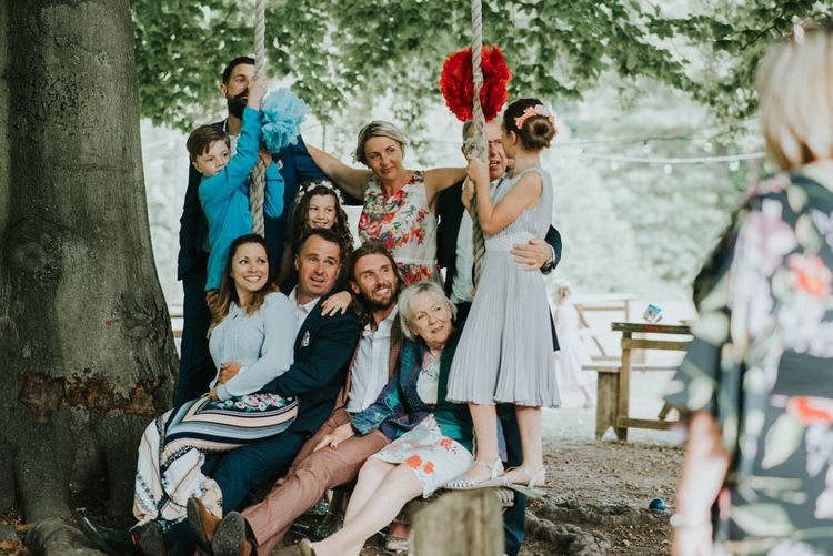 Wedding Guests | Outdoor Woodland Wedding at The Dreys in Kent | Fern Edwards Photography