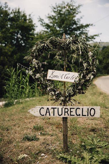 Greenery Wreathe Wedding Sign
