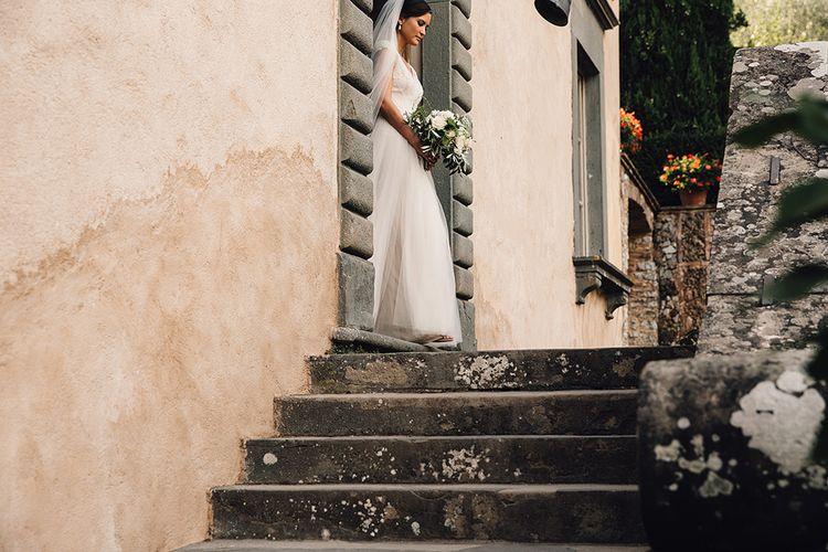 Bride in Customised David Fielden Wedding Dress Bridal Entrance