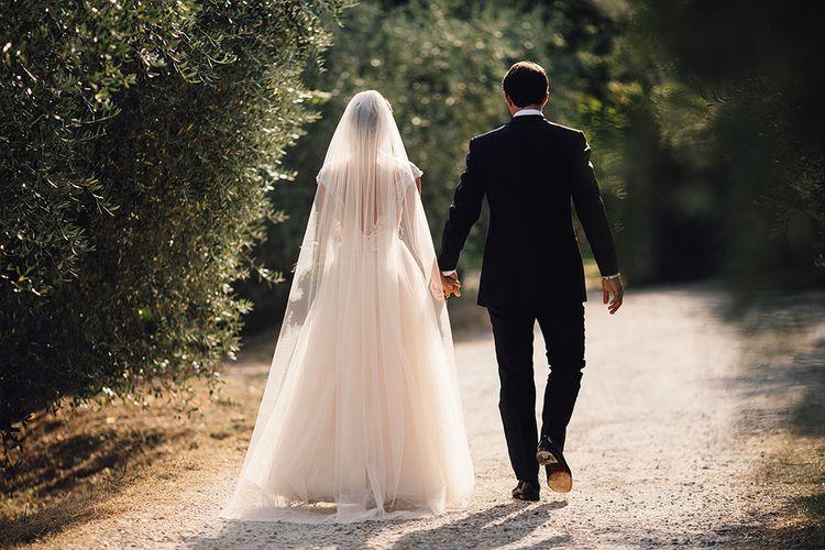 Bride in Customised David Fielden Wedding Dress and Groom in Cad & The Dandy Suit