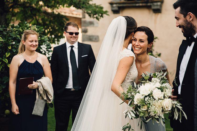 Bride & Wedding Guest Hugs
