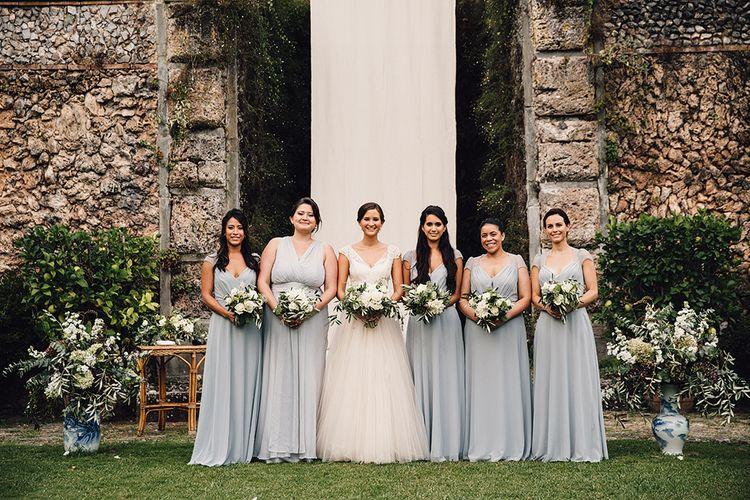 Bridesmaids in Grey ASOS Dresses
