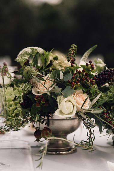 Elegant Floral Wedding Table Centrepiece