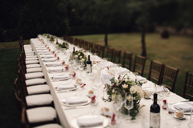 Elegant Reception Table Set Up