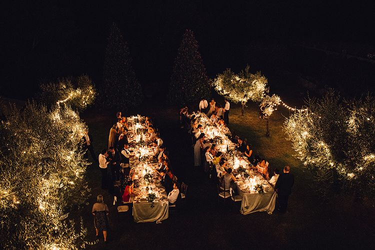 Evening Outdoor Wedding Reception