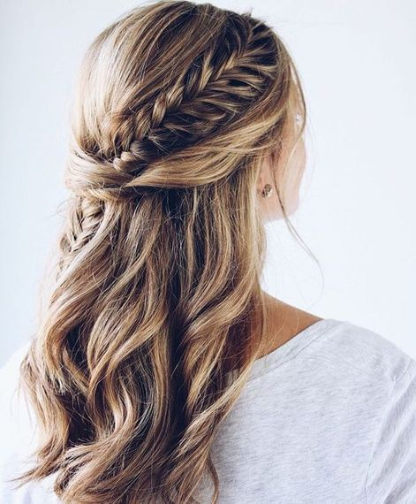 Plaited Bridal Hair Half Up Half Down