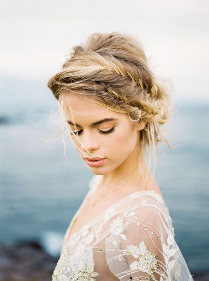 Braided Up Do For Bride