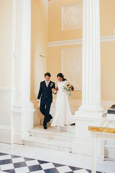 Bride & Groom Syon Park Wedding