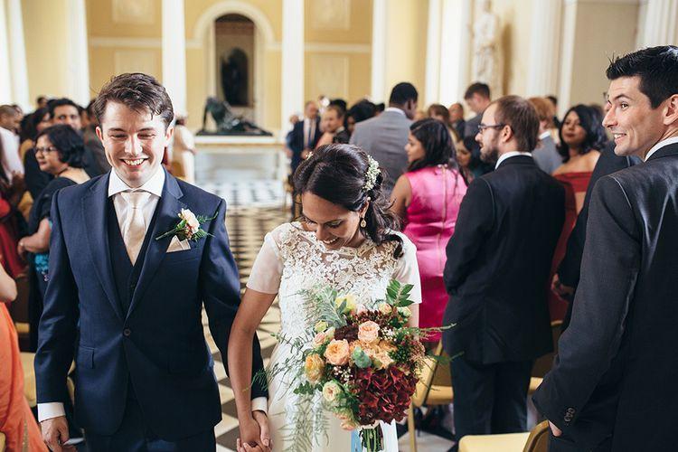 Bride & Groom Syon Park Wedding Ceremony