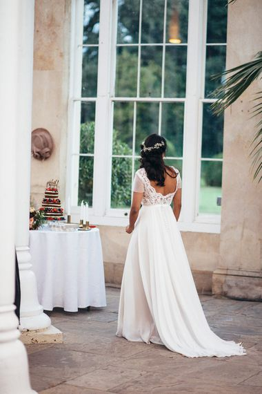 Bride in Etsy Wedding Dress