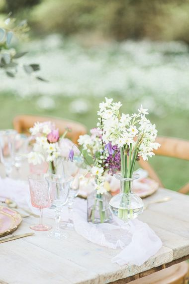 Spring Wedding Floral Arrangements With Daffodils // Easter & Spring Wedding Inspiration With Seasonal Spring Flowers, Easter Eggs And Bunny Rabbits With Images From Gyan Gurung Photography