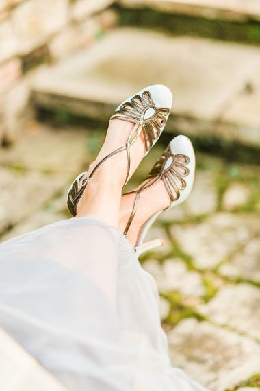 Emmy London Wedding Shoes // Easter & Spring Wedding Inspiration With Seasonal Spring Flowers, Easter Eggs And Bunny Rabbits With Images From Gyan Gurung Photography